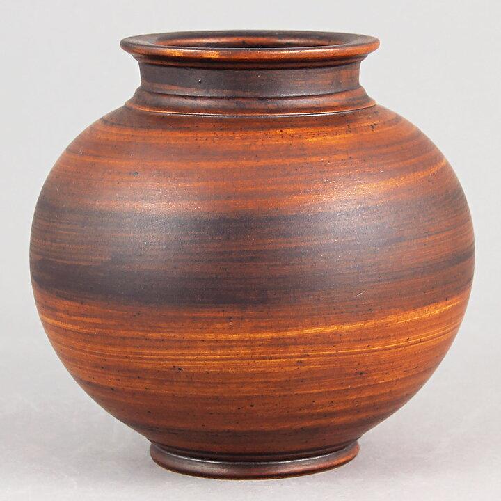 Gunnar Nylund 1930s Spherical Art Deco Vase 10 Cm