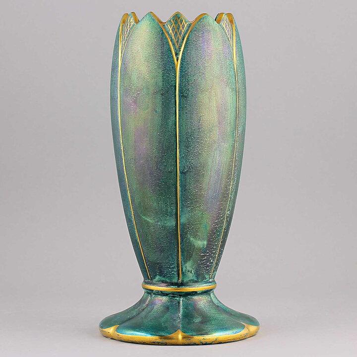 Josef Ekberg 1930s Amazing Art Deco Vase 23 Cm