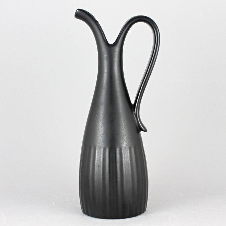 Lillemor Mannerheim Mangania 1955 Elegant Black Vase