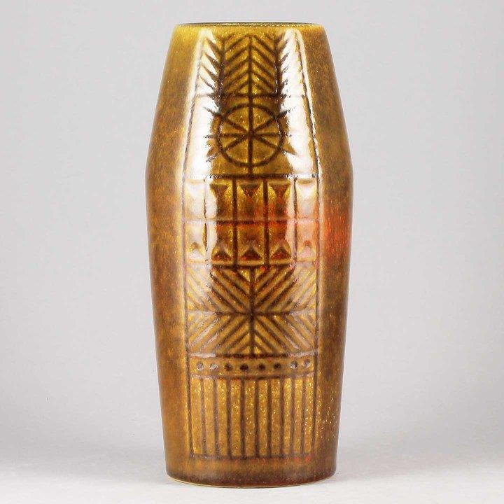 Mari Simmulson Runa 1968 Beautiful Brown Vase 20 Cm
