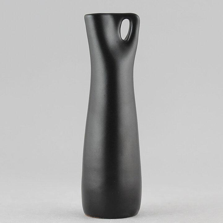 Ingrid Atterberg Somali 1953 Brilliant Black Vase With Handle