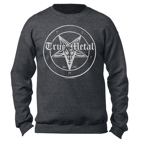 acc8748dc089 True Metal Brand - Metal Grey Crewneck Sweatshirt