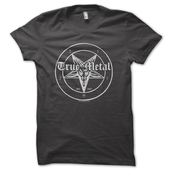 849c09b525a1 True Metal Brand - Vintage Washed Black T-shirt - True Metal Merch