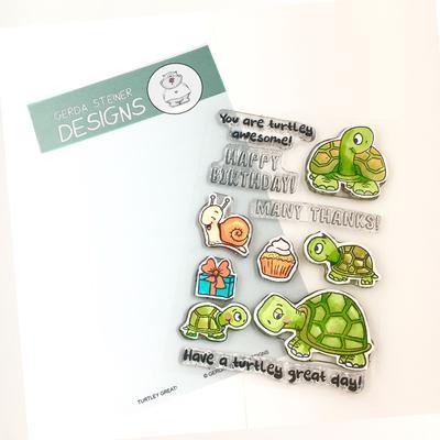 GERDA STEINER DESIGNS-Turtley Great 4x6 Clear Stamp Set