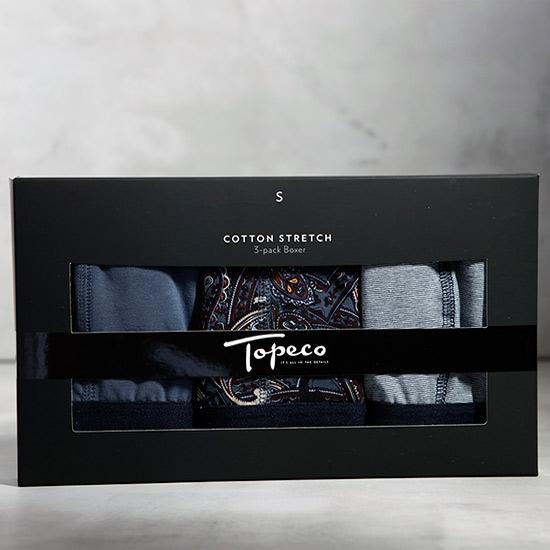 3-pack Herrboxer Shade of blue Topeco - Slipskungen ba59b6d54a85b