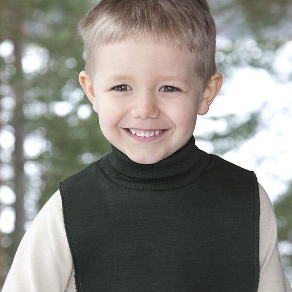 Fuskpolo till barn i ull från Ruskovilla - marinblå - KoKoBello ... 80476965104a4