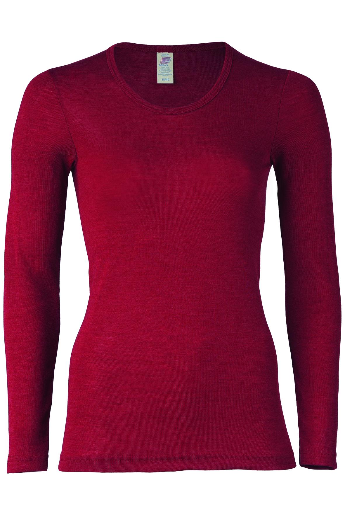e467fac5601 Röd långärmad tröja för vuxen (dam) i ekologisk GOTS-certifierad ullsilke  från Engel - Mauve - KoKoBello - ekologiskt, hållbart & giftfritt