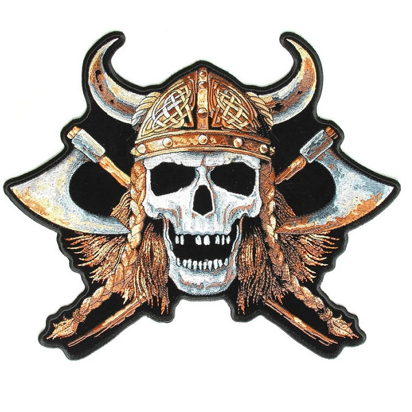 Viking Skull Big Patch