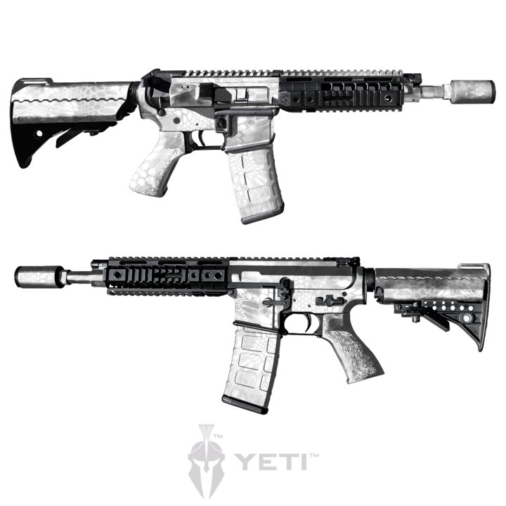 GunSkins® AR-15/M4 Skin - Kryptek Yeti - Tactical Store - Paintball ...