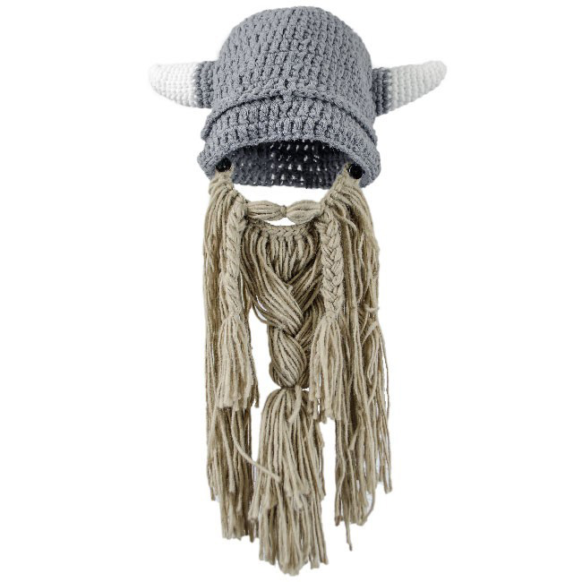 9e2f9a02262642 ... free shipping knitted viking hat with beard a6ea6 450af