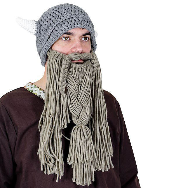 Knitted Viking Hat with Beard - GearUpStore 4d8958b70c7