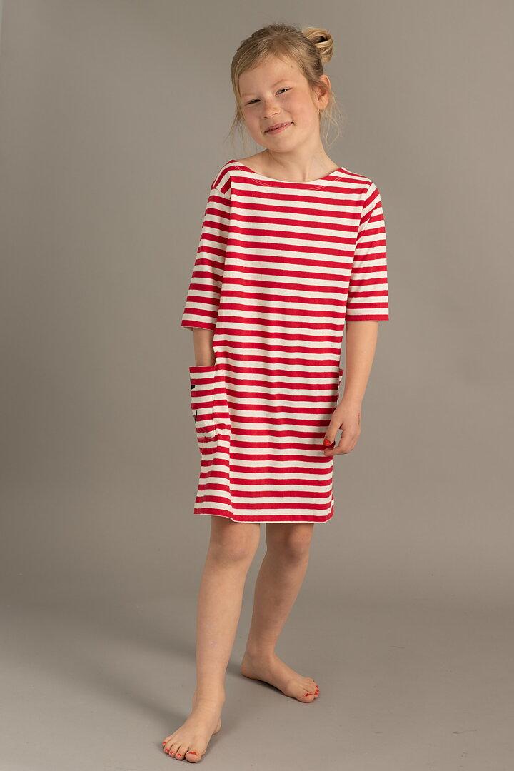 04077f656ec9 EM Nova Dress Stripe Linen Blend Raspberry - emmamalena.com