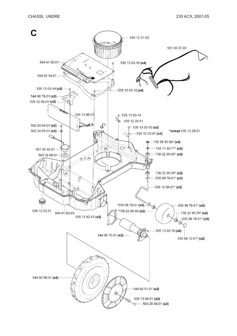 main circuit board for husqvarna automower 230 acx  solar