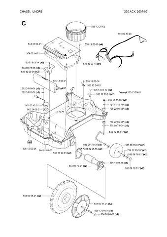 main circuit board for husqvarna automower 230 acx solar With main circuit board