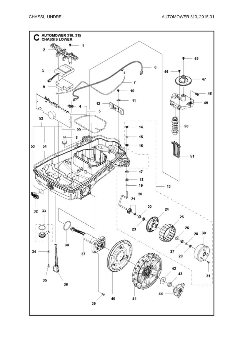 main circuit board for husqvarna automower 310  315