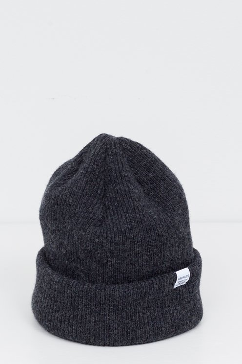 f82f53145ae Norse Projects - Beanie Charcoal Melange - Meadow