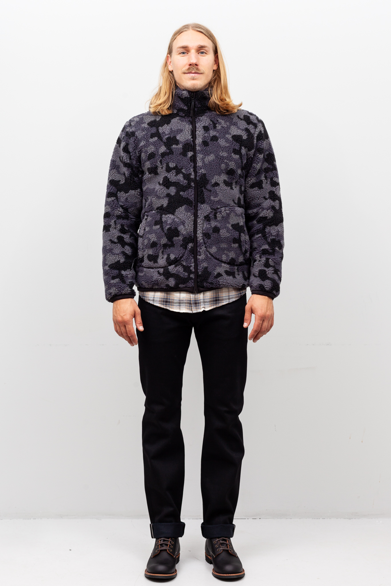 Edwin - Insulate Jacket Sherpa Camo Black