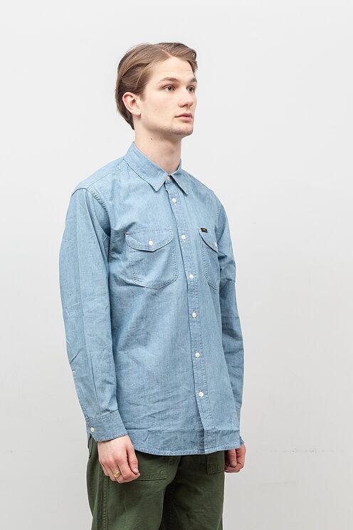 c49159a52b Lee 101 - 101 Worker Shirt Washed - Meadow