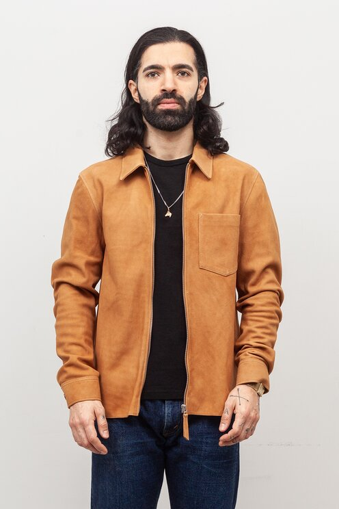 36a82d846bc5f Our Legacy - Suede Zip Shirt Sand Suede - Meadow