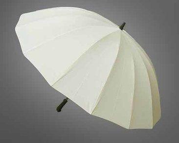 Big ivory coloured umbrella