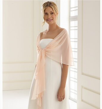 Cape sjal av chiffon blush pink - Bubbles   Luxury 099bb46b01828
