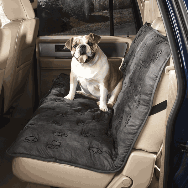 GG Pawprint Seat Covers Charcoal