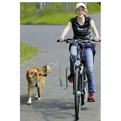 cykla med hund