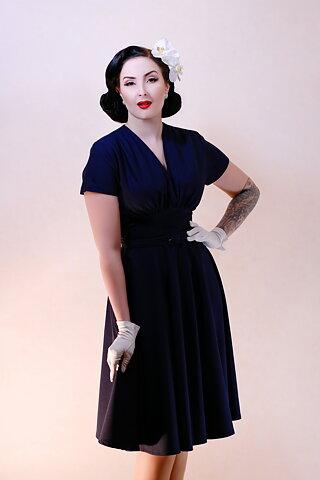 75036b9a63b Daisy Dapper Collection Marilyn Dress Navy