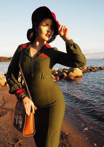 988b15798d8 Daisy Dapper Collection Agneta Dress Green