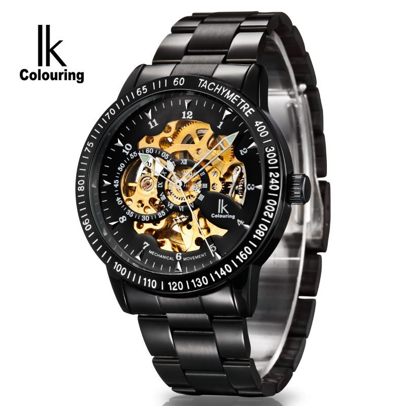 IK Colouring Herrklocka - Black Skeleton 98226G (svart guld) 09568e96acb85