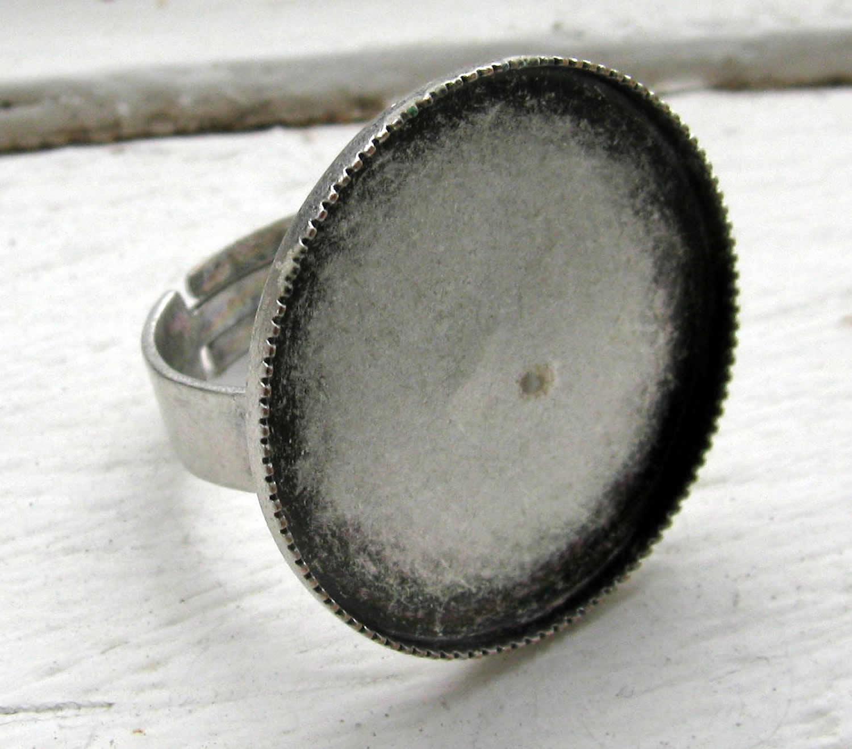 Ringstomme Antik silverfärgad - Ram rund 25mm efe86dd841a5c