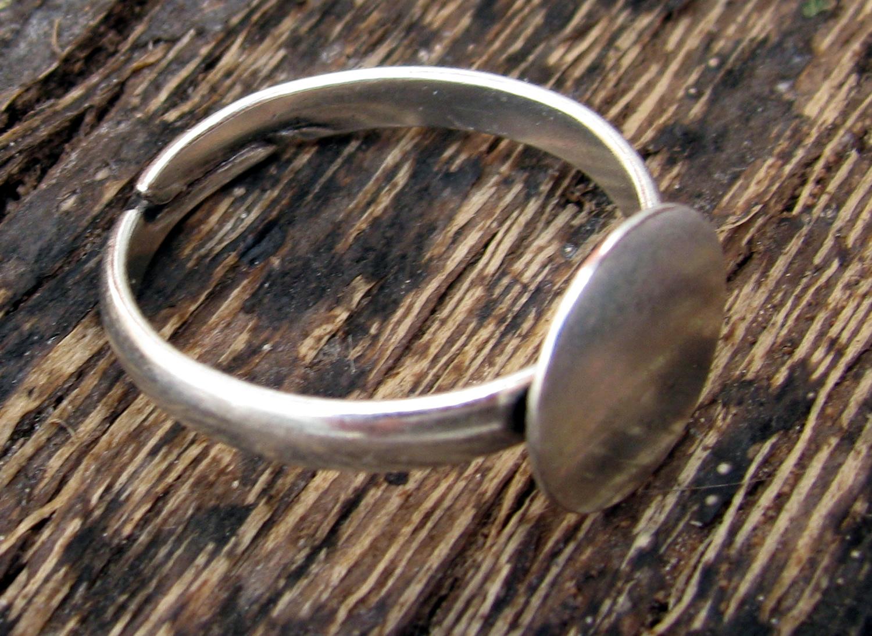 Smyckesdelar Ringstommar Ringstomme Silverfärgad - Platta 10 mm c16ba82a03f17