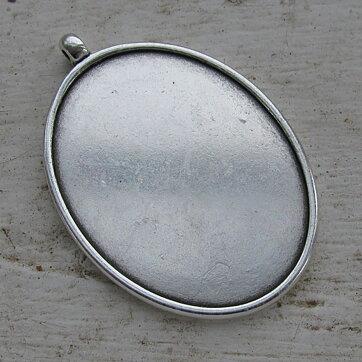 Ramberlock Silverfärgad - Oval 40x30mm 923d9f3da2816