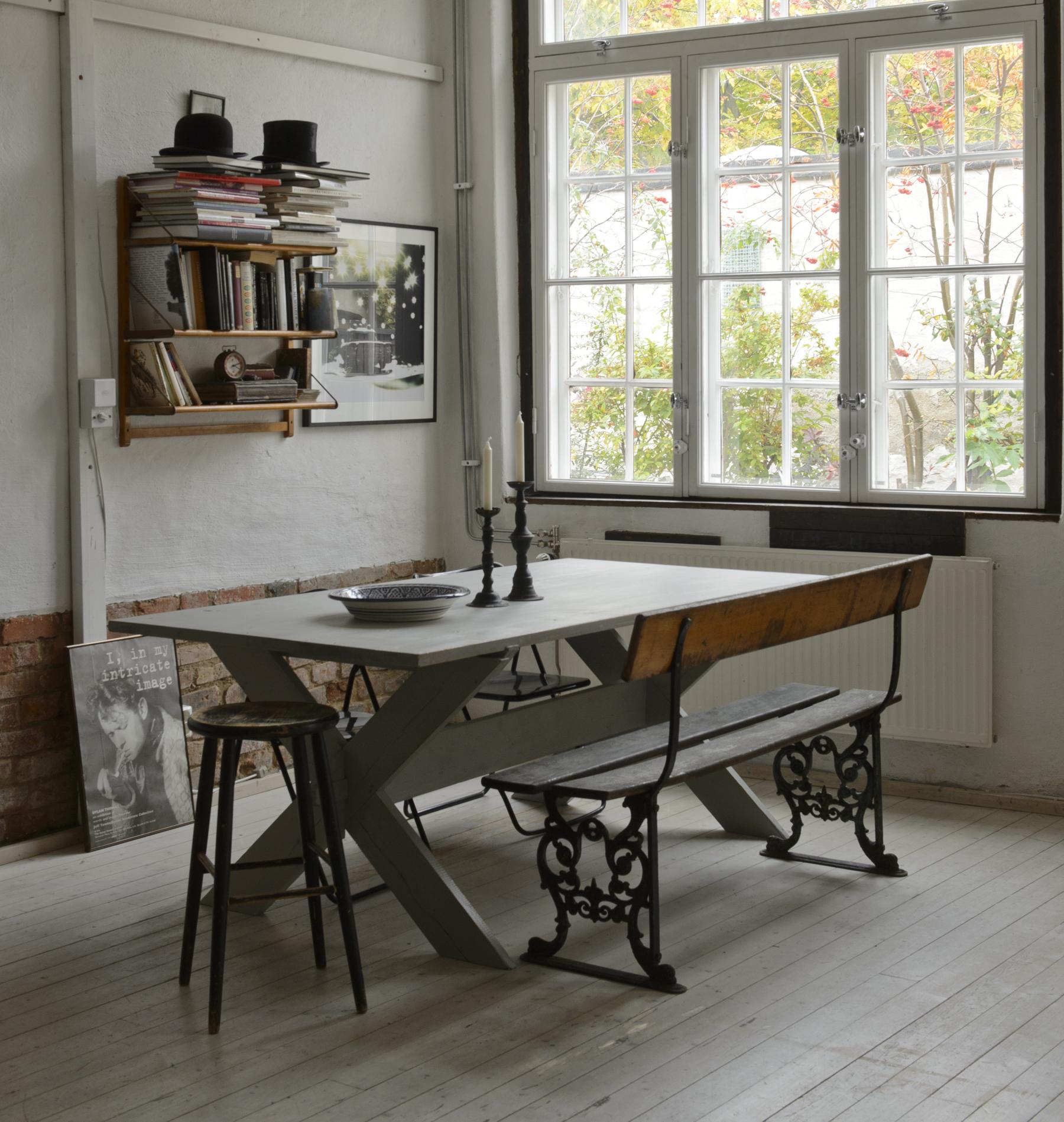 Butik Lanthandeln - Stort rustikt matbord SÅLT