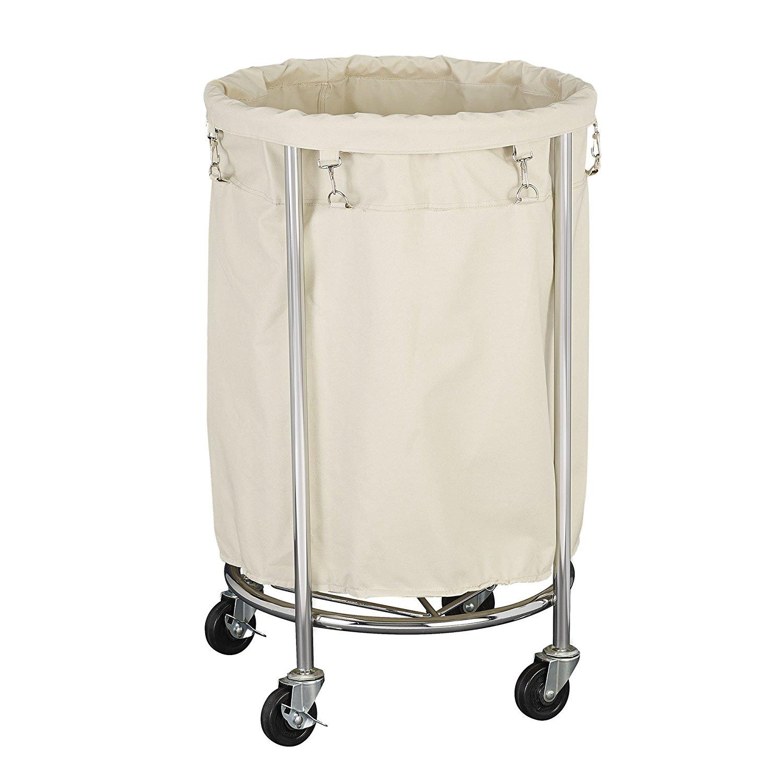 Förvara se Tvättkorg på hjul, rund, ROUND HAMPER, chrome