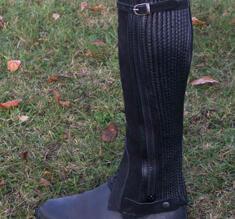 Shortchaps läder/mocca från Globus