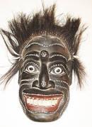 Trä Mask - Borneo