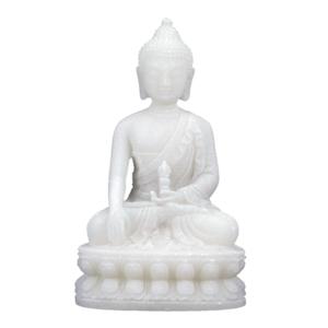 Mediterande Vit Buddha med Dorje i hand  - 40cm