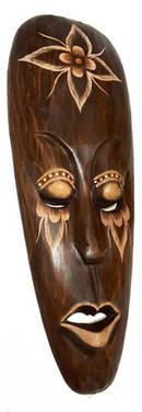 Indonesisk Mask - Lotus Eyes - Bred