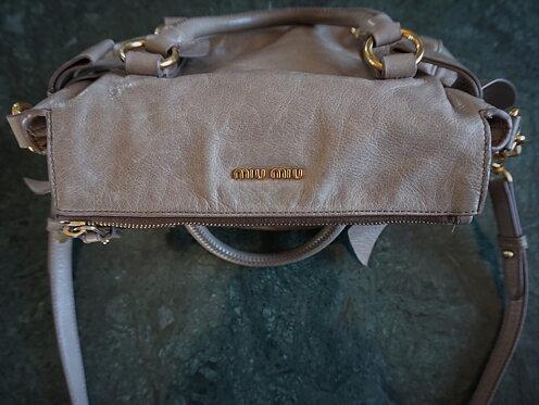 d9a1ff1e2f1 Miu Miu Bow Satchel Leather Bag