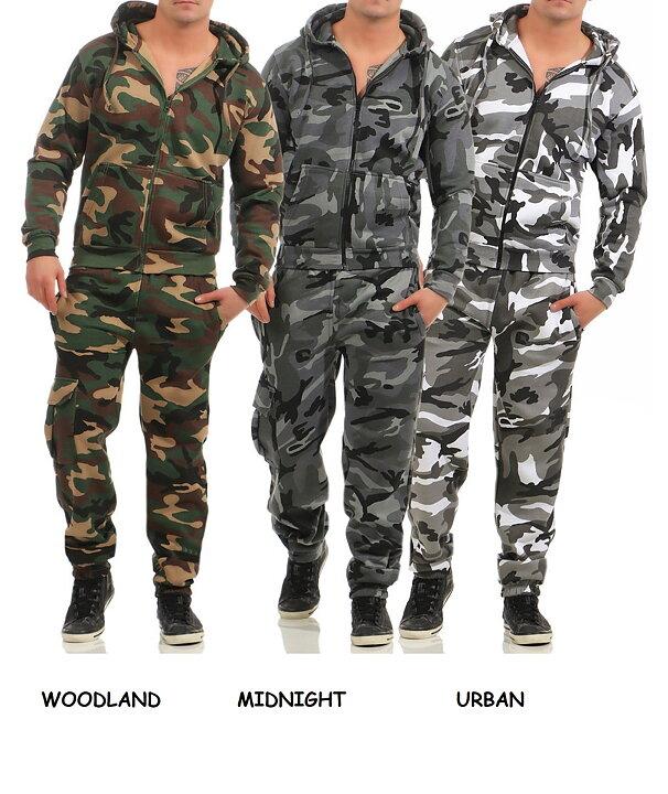 Träningsoverall Camouflage Huvtröja   Byxor  39cfbdbc89ad5