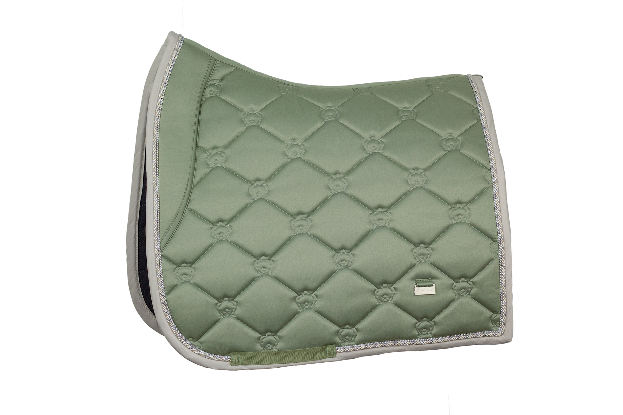 monogram saddle pad for dressage with horse and pony