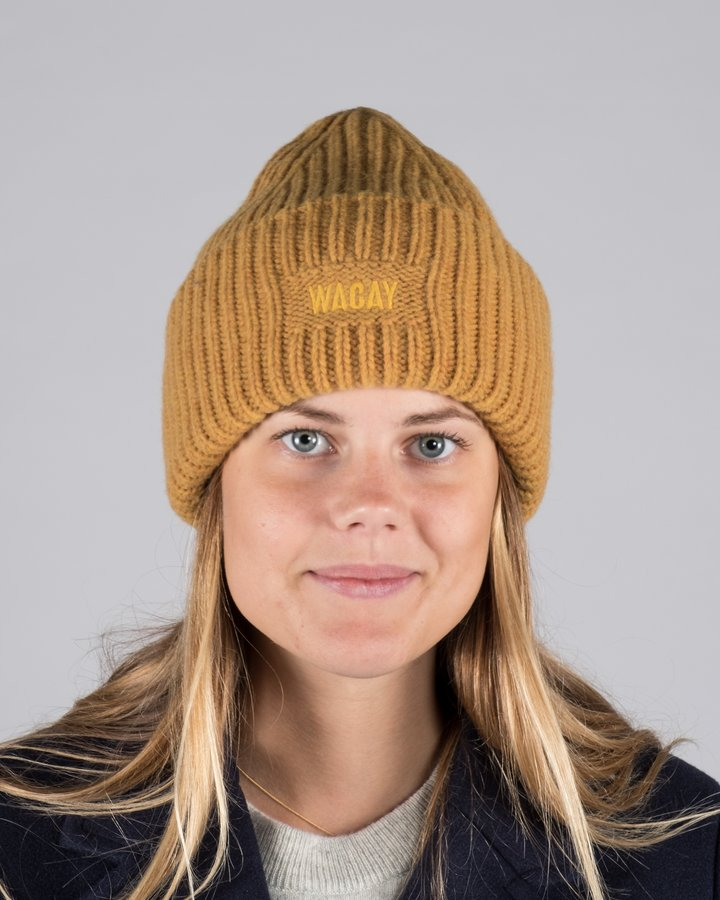 a26f4c436a9 Wool Beanie Hat - Dirty Yellow - 654.se