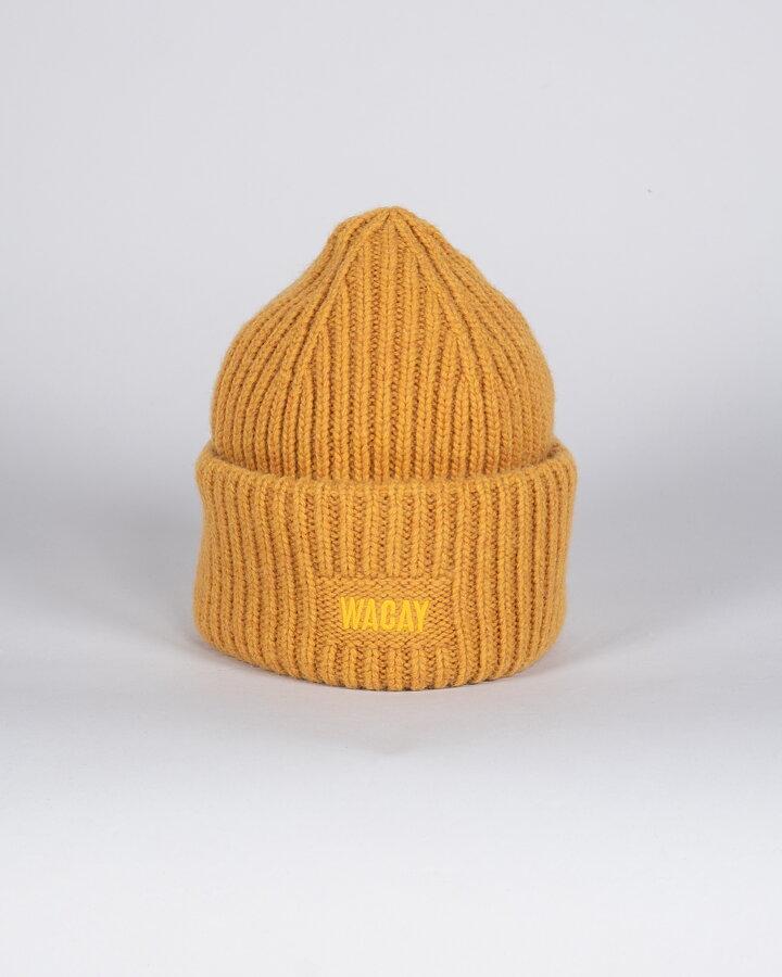 bde0cdae98969 Wool Beanie Hat - Dirty Yellow - 654.se