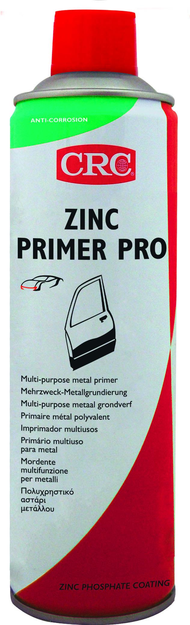 crc zinc primer pro aerosol 500 ml - gårdsman