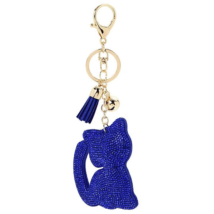Nyckelringar   Väskaccessoarer med Katter - Läder och Strass ... 7e97b0bcaeeed