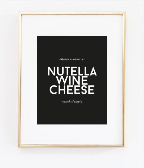 nutella wine cheese