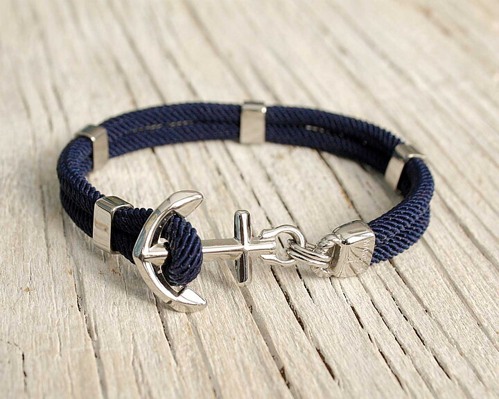 New Haven Anchor Bracelet Silver