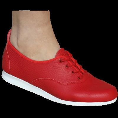 a6320879419 Bleyer - Buggsko i Skinn - Röd med Plastsula