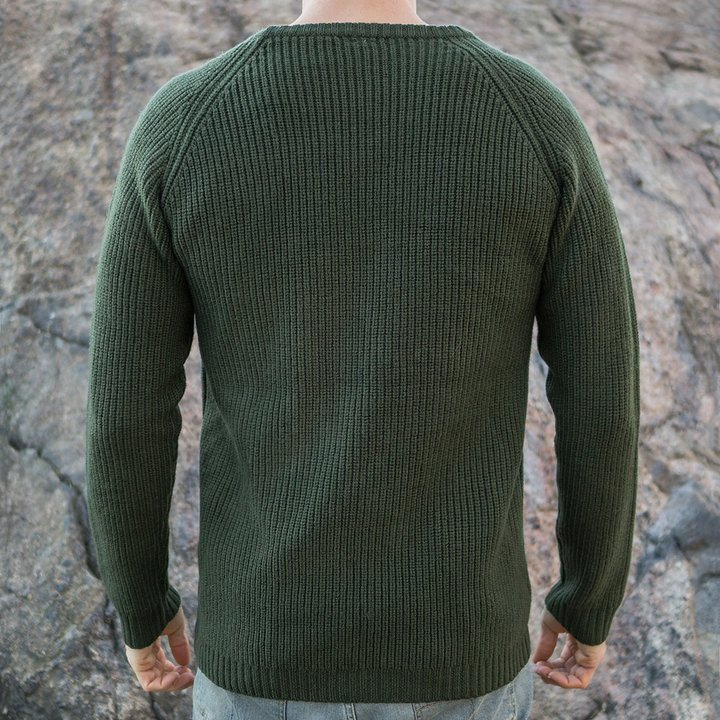 9a474da14ef902 Mens Corder Merino Sweater | Moss Green | RÖJK Superwear